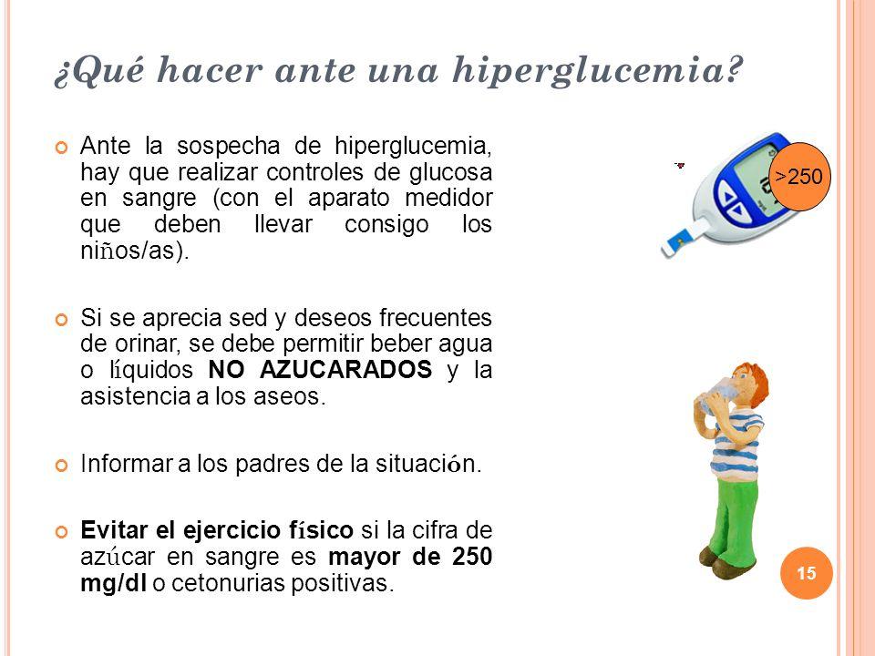 ¿Qué hacer ante una hiperglucemia