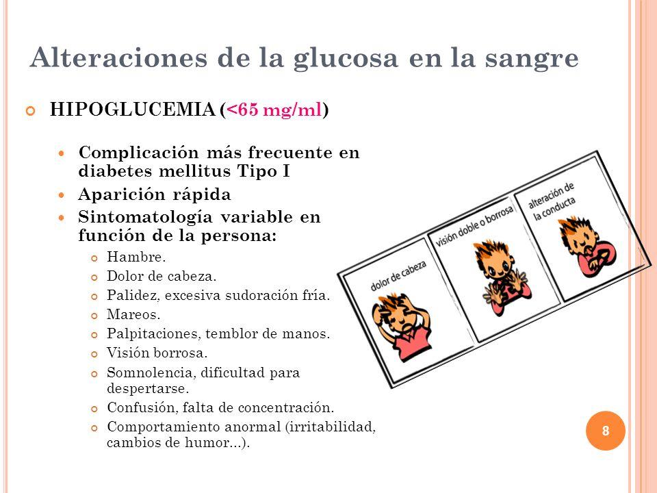 Alteraciones de la glucosa en la sangre