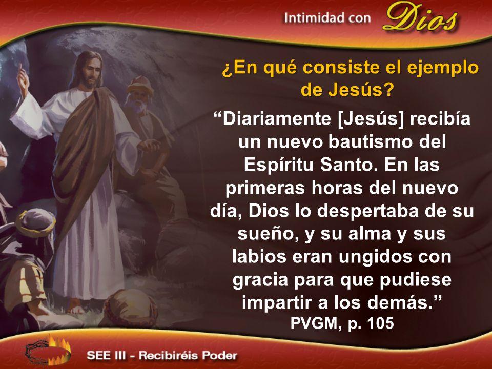 ¿En qué consiste el ejemplo de Jesús