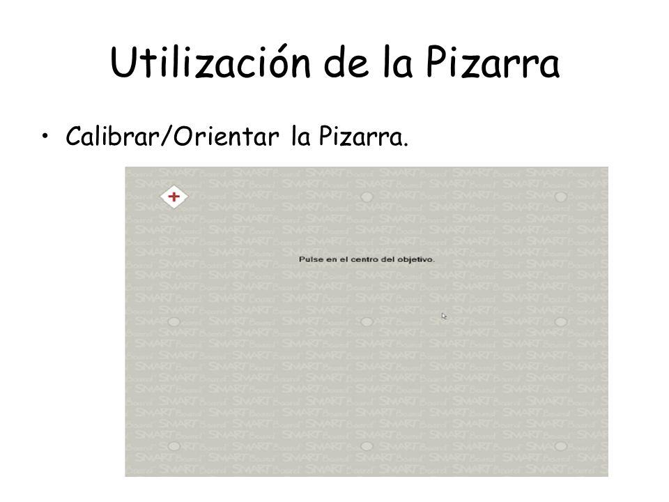 Utilización de la Pizarra