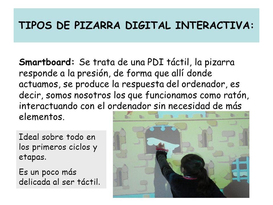 TIPOS DE PIZARRA DIGITAL INTERACTIVA: