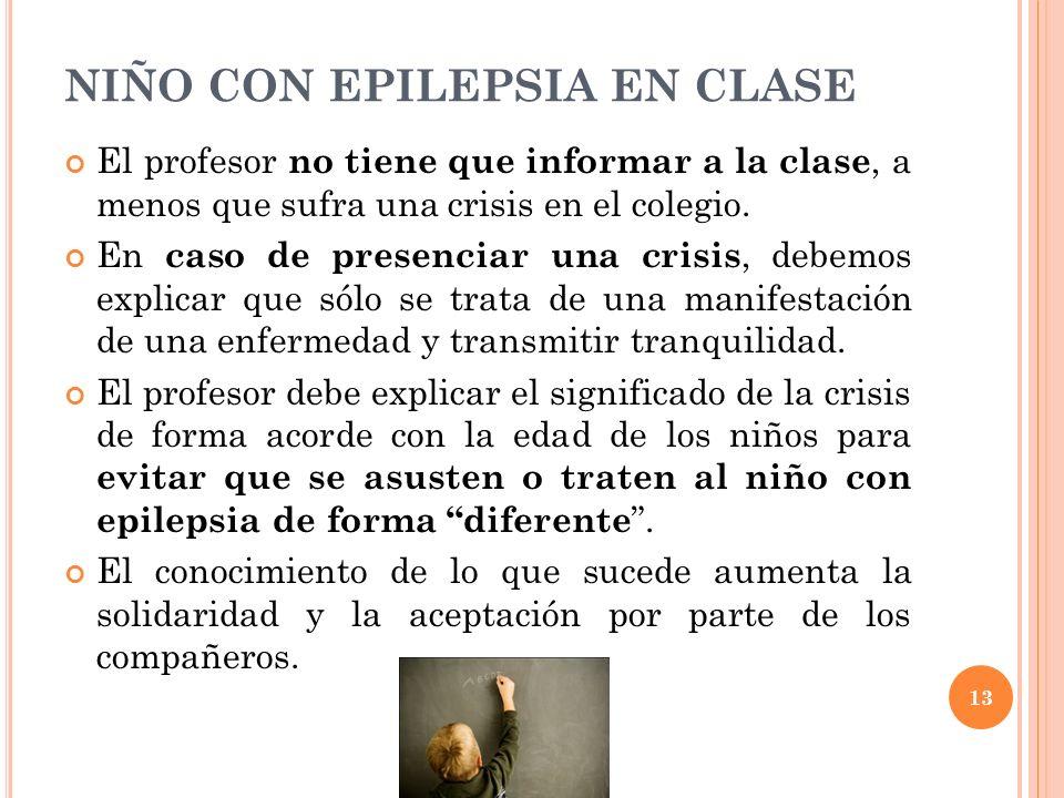 NIÑO CON EPILEPSIA EN CLASE
