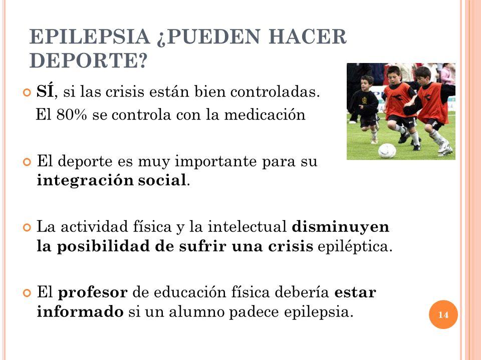 EPILEPSIA ¿PUEDEN HACER DEPORTE