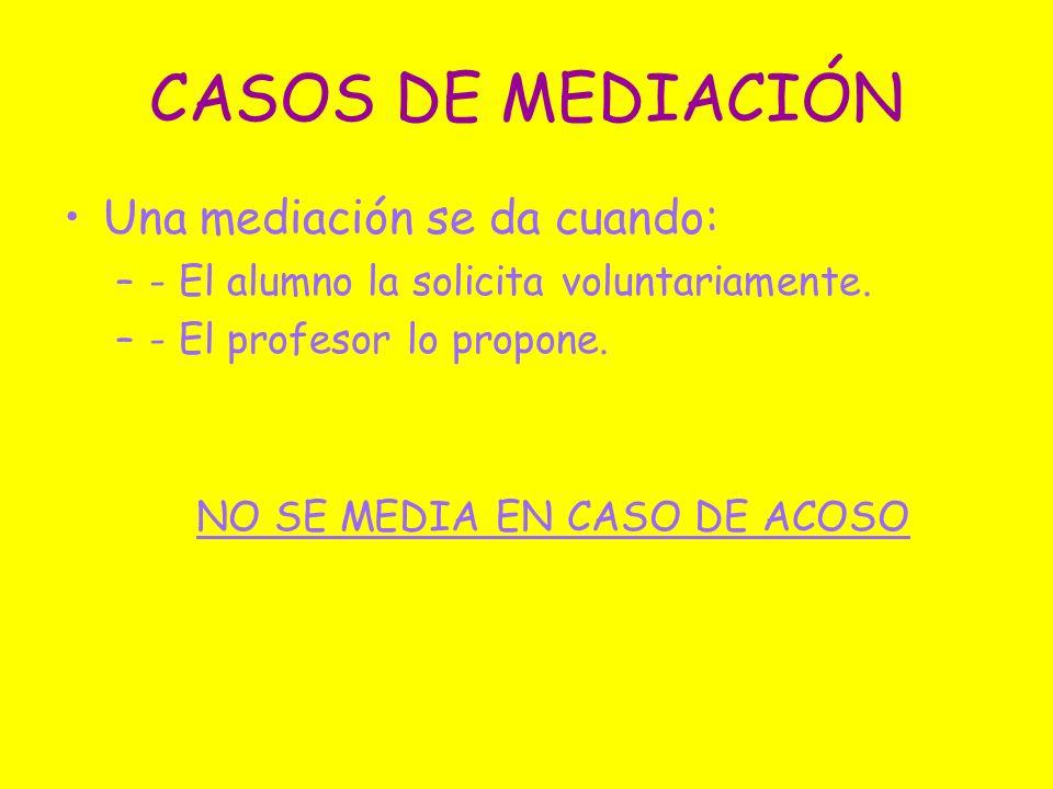 NO SE MEDIA EN CASO DE ACOSO