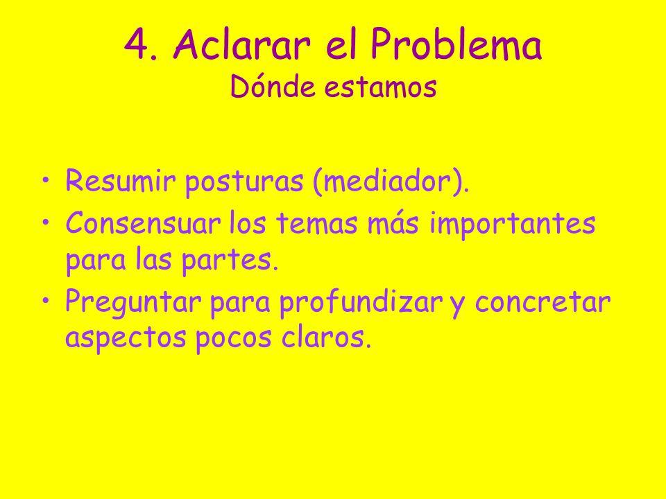 4. Aclarar el Problema Dónde estamos