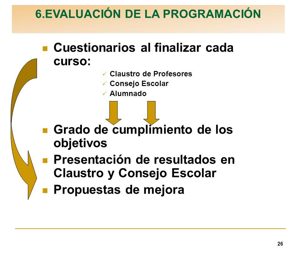 6.EVALUACIÓN DE LA PROGRAMACIÓN