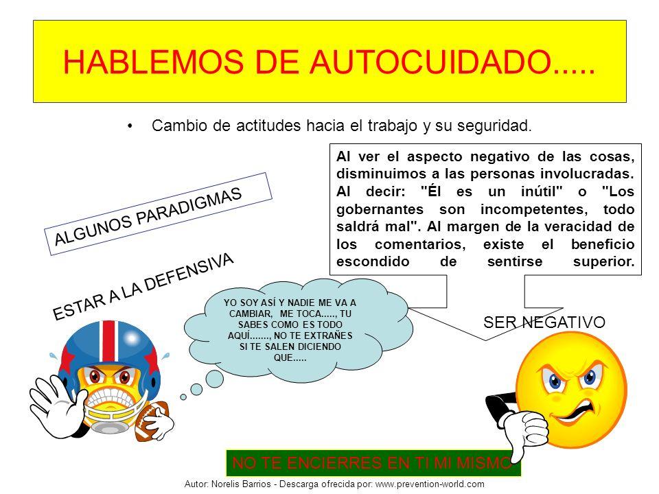 HABLEMOS DE AUTOCUIDADO.....