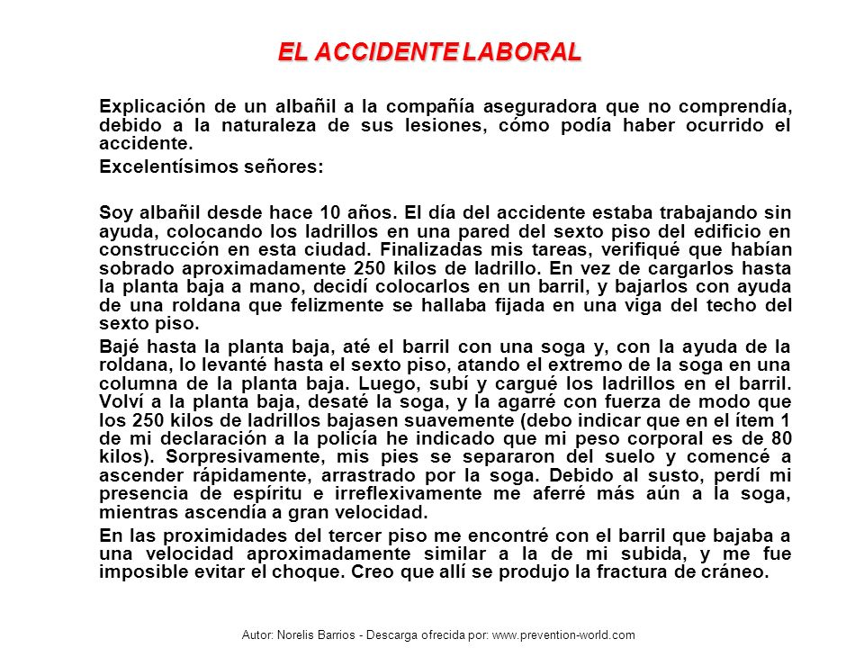 EL ACCIDENTE LABORAL