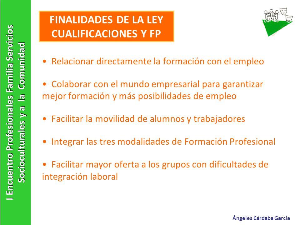 FINALIDADES DE LA LEY CUALIFICACIONES Y FP