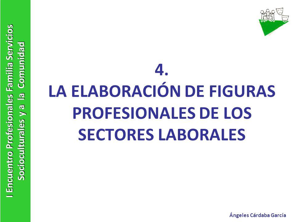 4. LA ELABORACIÓN DE FIGURAS PROFESIONALES DE LOS SECTORES LABORALES