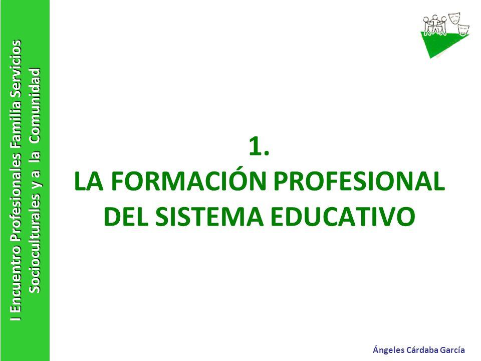 1. LA FORMACIÓN PROFESIONAL DEL SISTEMA EDUCATIVO