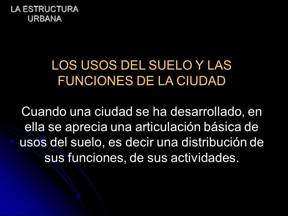LOS USOS DEL SUELO Y LAS FUNCIONES DE LA CIUDAD
