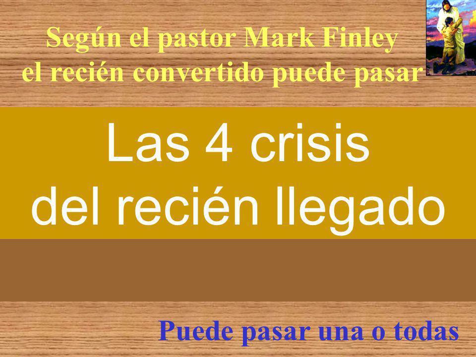 Según el pastor Mark Finley el recién convertido puede pasar