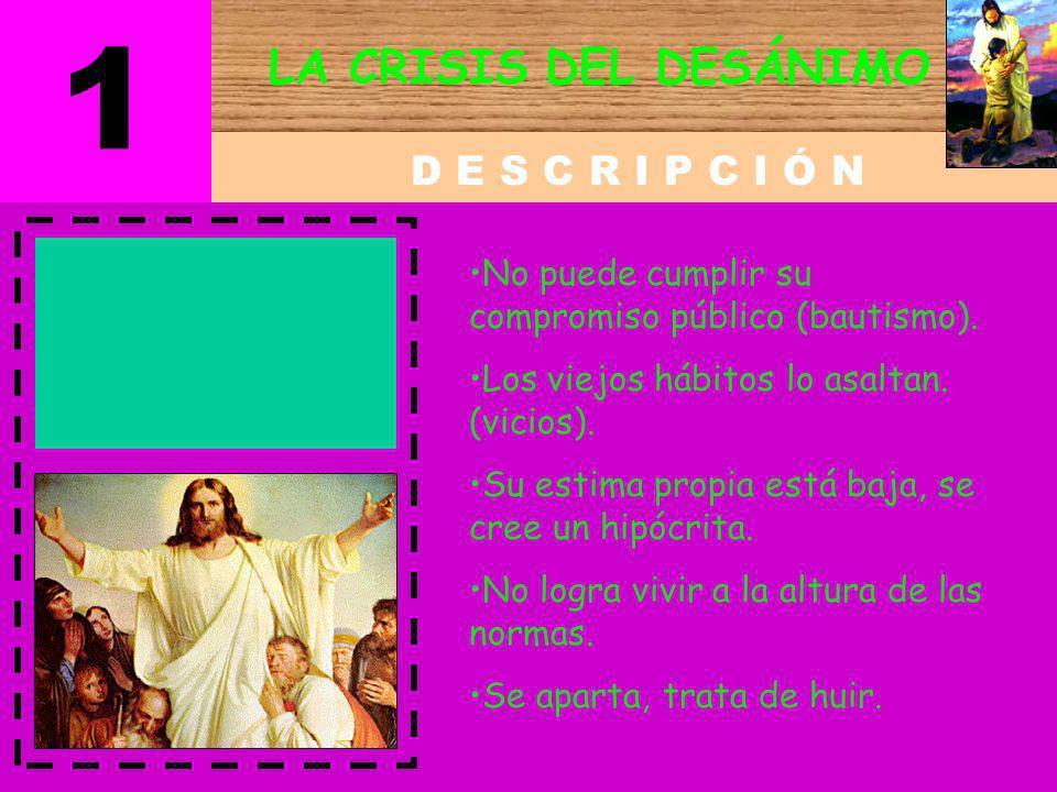 1 LA CRISIS DEL DESÁNIMO D E S C R I P C I Ó N