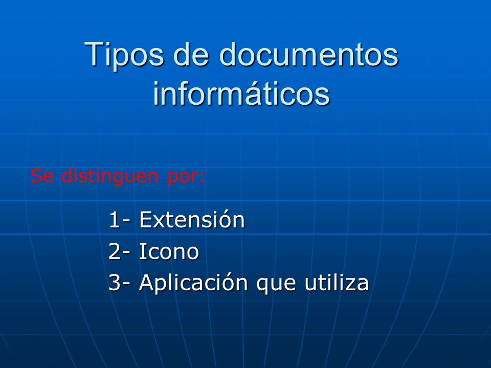Tipos de documentos informáticos