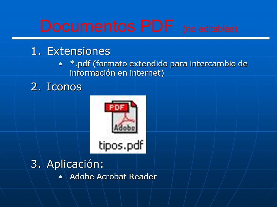 Documentos PDF (no editables)