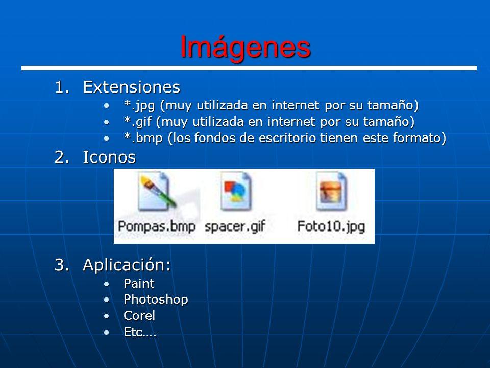 Imágenes Extensiones Iconos Aplicación: