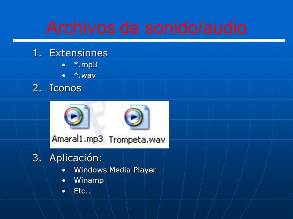 Archivos de sonido/audio