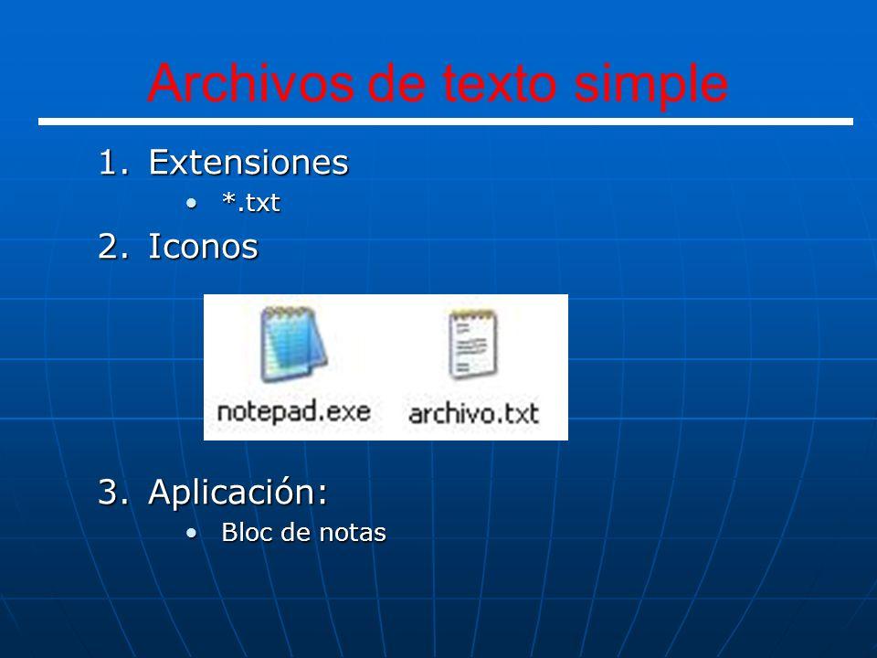 Archivos de texto simple