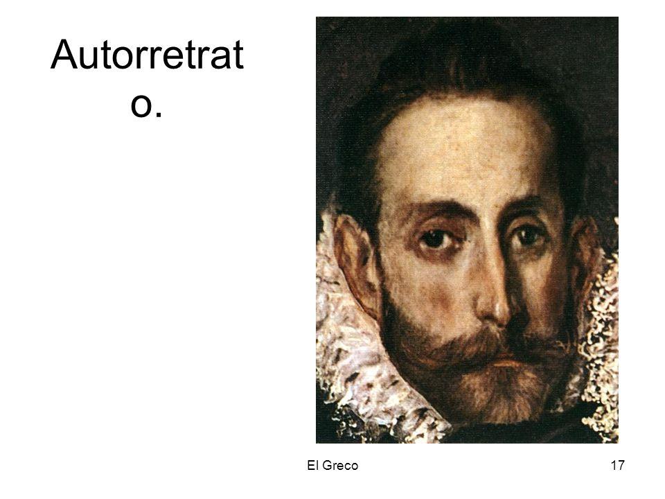 Autorretrato. El Greco