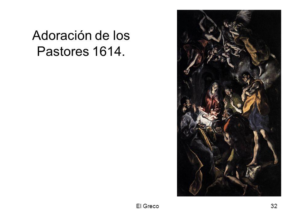 Adoración de los Pastores 1614.