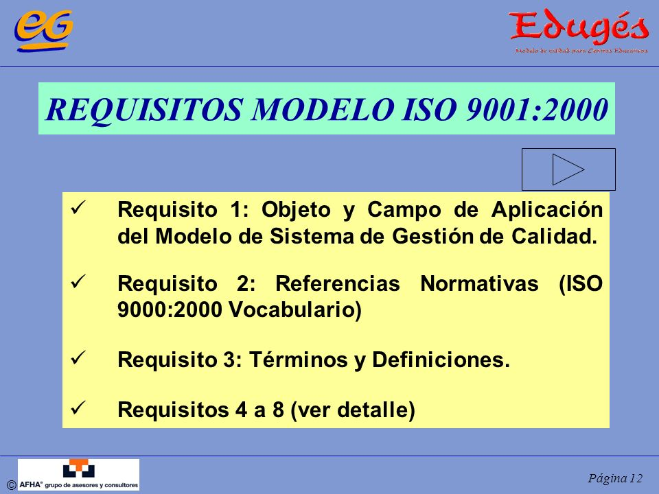 REQUISITOS MODELO ISO 9001:2000