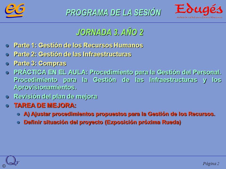 PROGRAMA DE LA SESIÓN JORNADA 3. AÑO 2