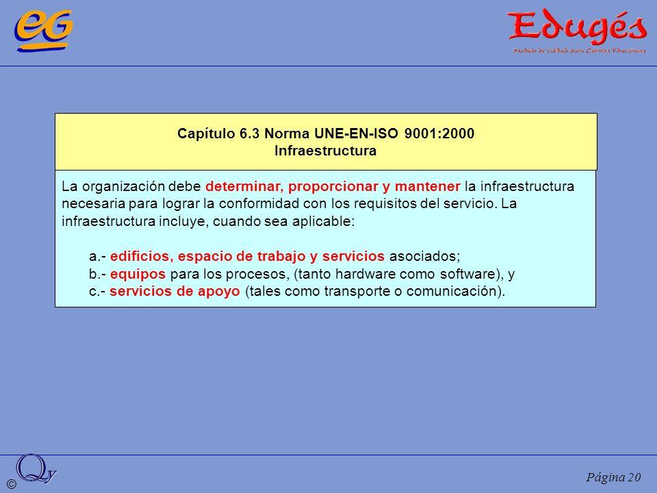 Capítulo 6.3 Norma UNE-EN-ISO 9001:2000