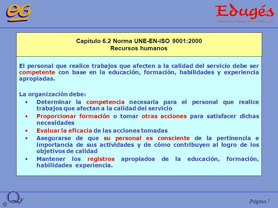 Capítulo 6.2 Norma UNE-EN-ISO 9001:2000