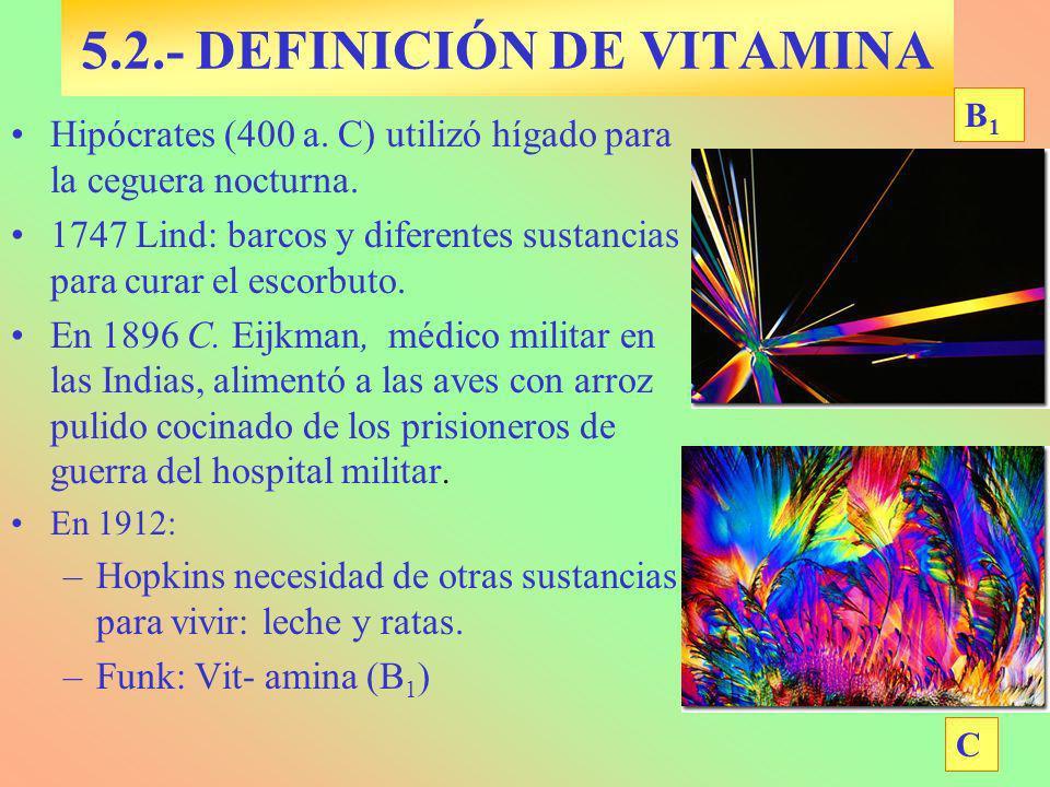 5.2.- DEFINICIÓN DE VITAMINA