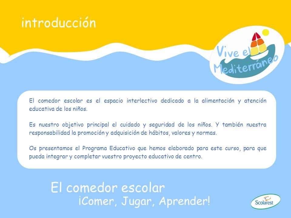 introducción El comedor escolar ¡Comer, Jugar, Aprender!