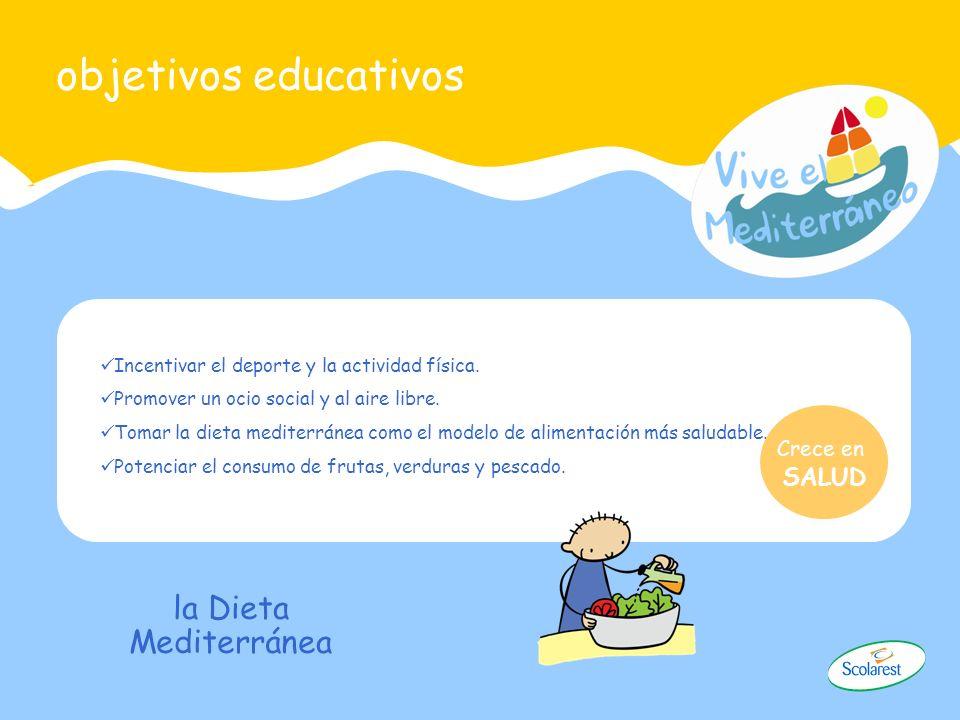 objetivos educativos la Dieta Mediterránea SALUD Crece en