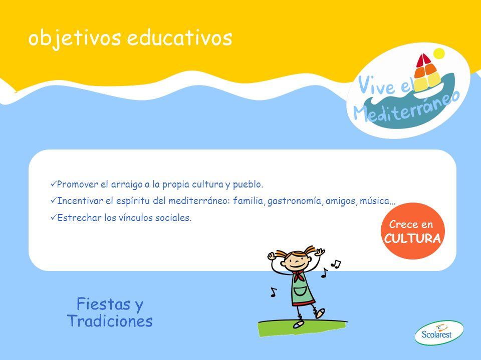 objetivos educativos Fiestas y Tradiciones CULTURA Crece en