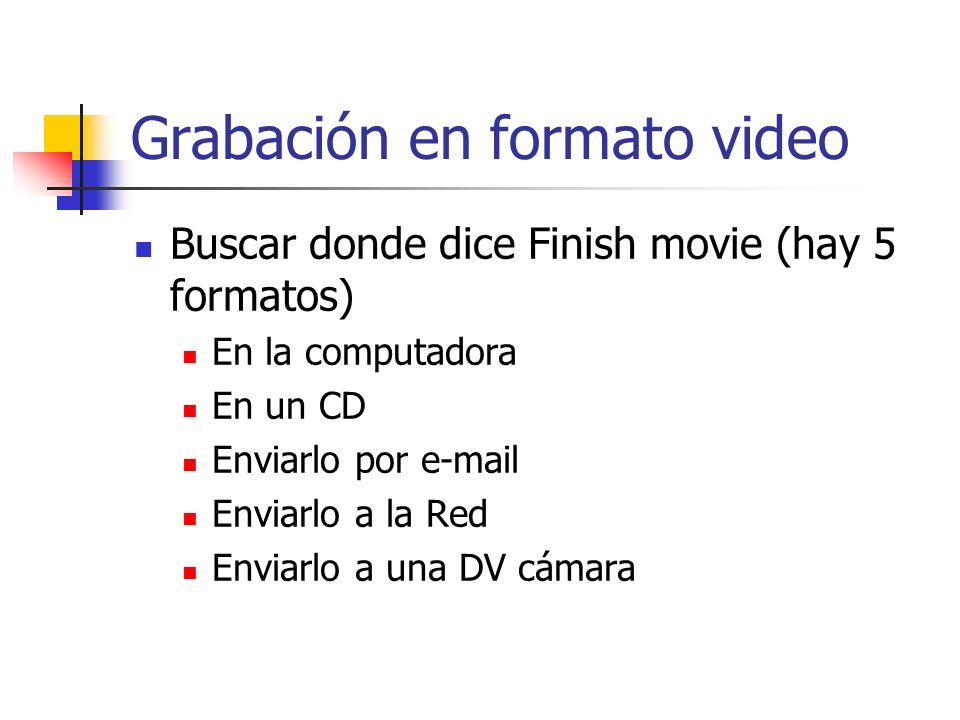 Grabación en formato video