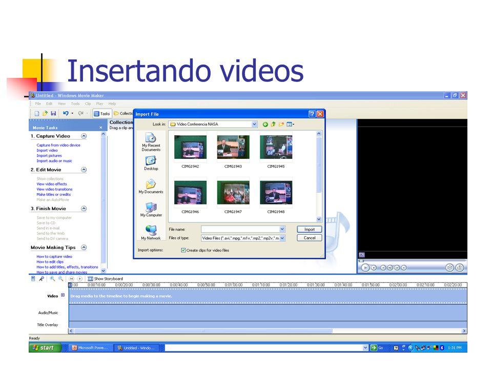 Insertando videos