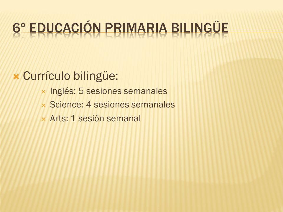 6º EDUCACIÓN PRIMARIA BILINGÜE