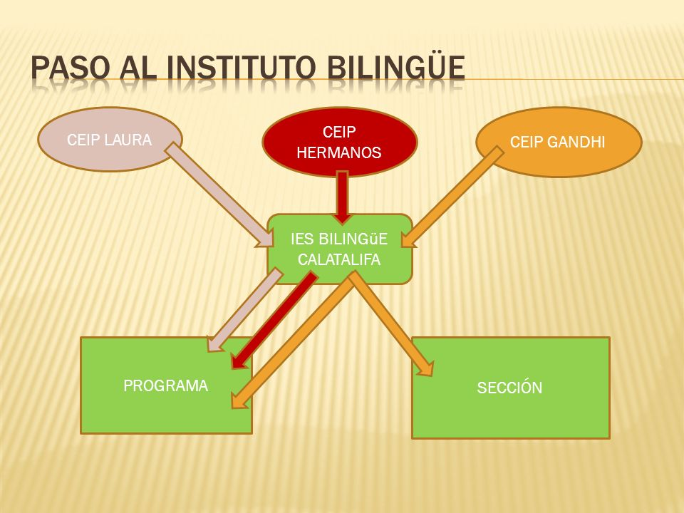 Paso al instituto bilingüe