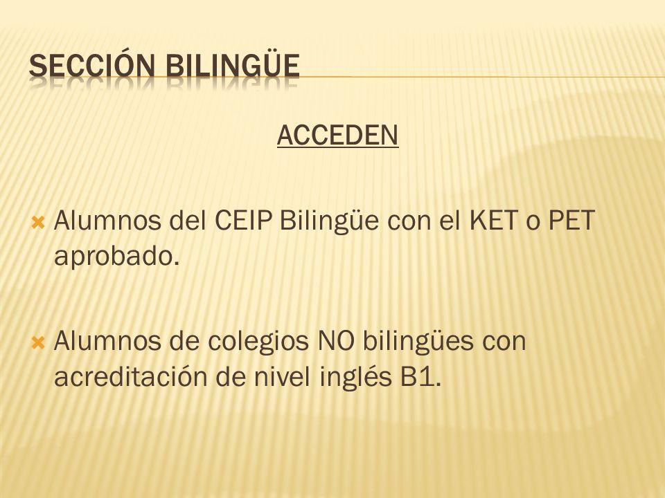 Sección bilingÜe ACCEDEN