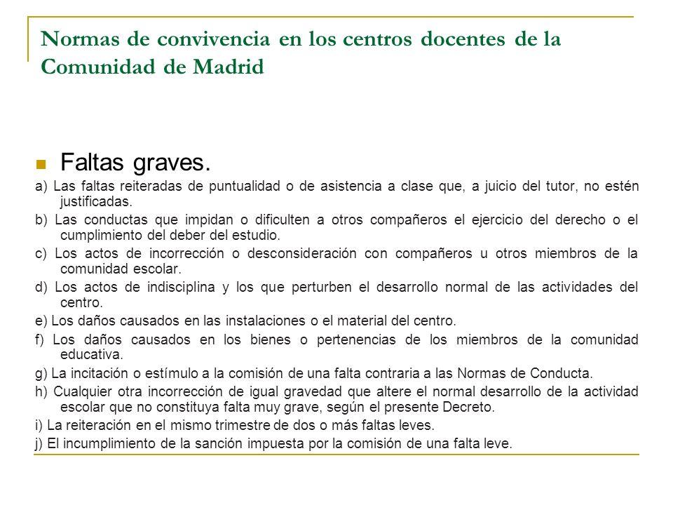 Normas de convivencia en los centros docentes de la Comunidad de Madrid