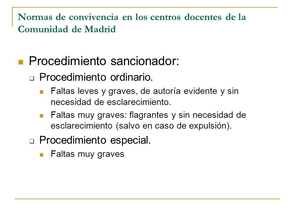 Procedimiento sancionador: