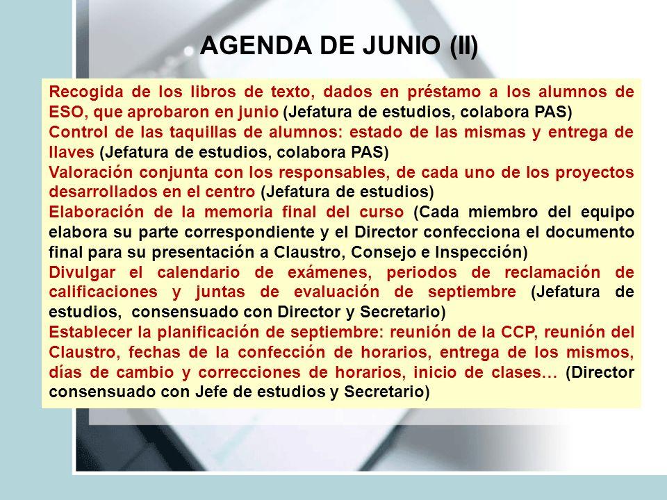 AGENDA DE JUNIO (II)