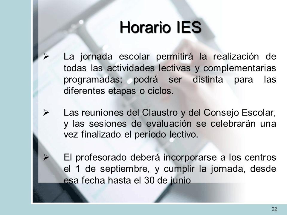 Horario IES