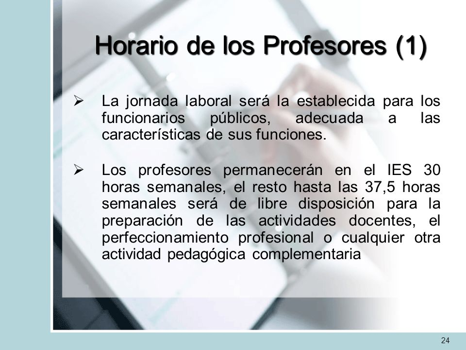 Horario de los Profesores (1)