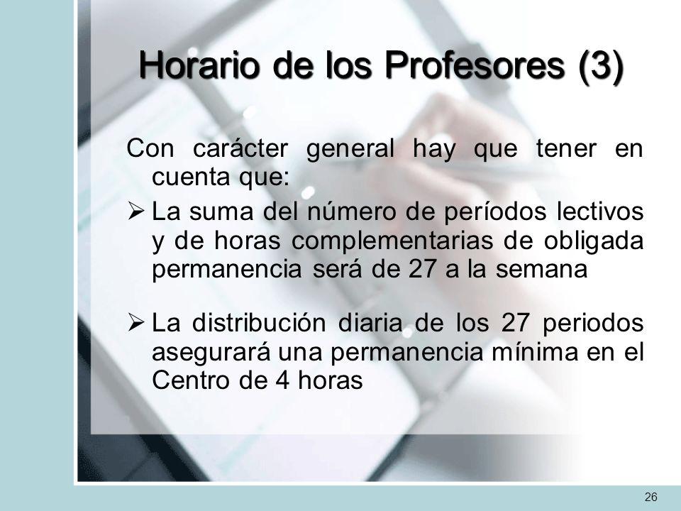 Horario de los Profesores (3)