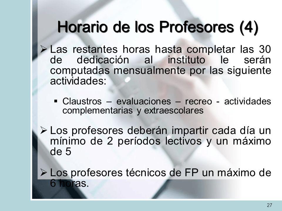 Horario de los Profesores (4)