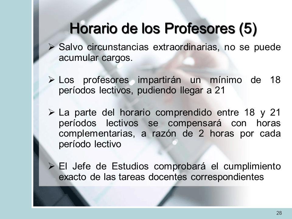 Horario de los Profesores (5)