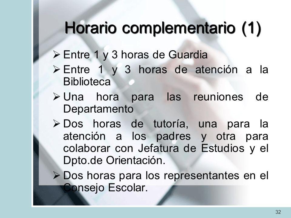 Horario complementario (1)
