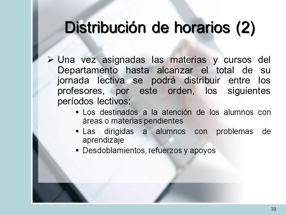 Distribución de horarios (2)