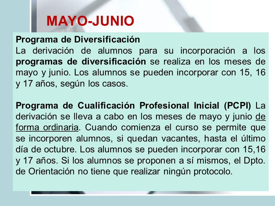 MAYO-JUNIO Programa de Diversificación