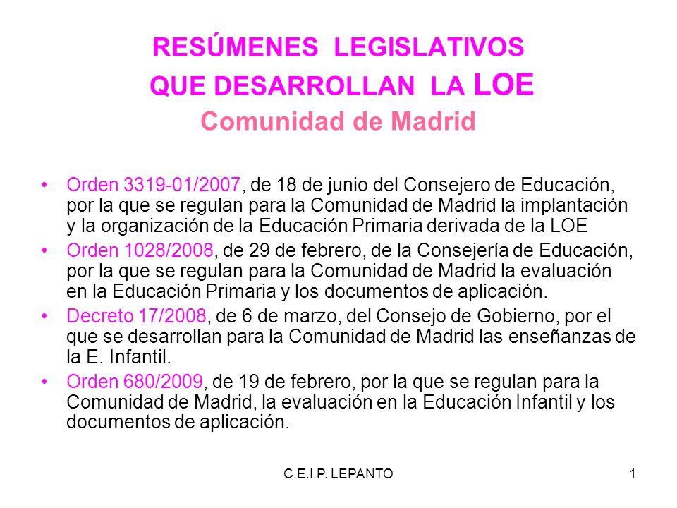 RESÚMENES LEGISLATIVOS